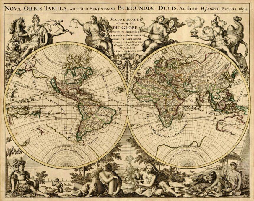 Mapa hemisferios
