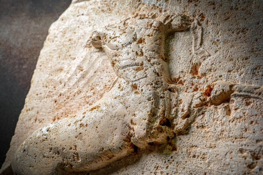 centaurus tallado en piedra