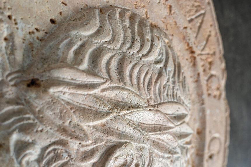 Domiciano en travertino cron. obra atribuída a alfonso lombardi y adquirida por Miquel Mai.