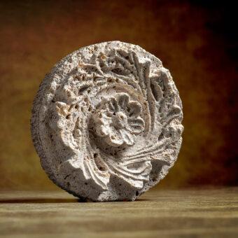 florón, flor, estrella, clave, travertino, rosetón, ornamento, motivo, ornato